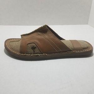 Margaritaville Leather Slides Duval Mens 9 Sandals